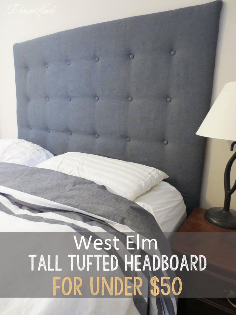 Western Inspired Room Love The Headboard With Old Doors: DIY West Elm Tall Tufted Headboard For Under $50