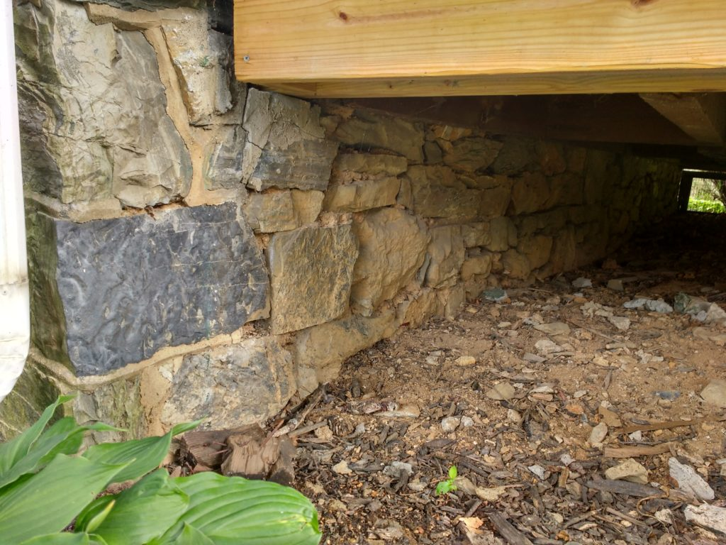 Why We Re Fixing Our Stone Foundation With Hydraulic Lime